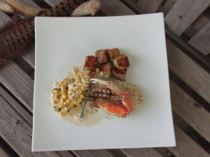 Rock Fish with Corn and Crab Sauce